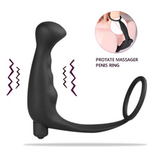 Мужской задержки climax простаты массажер анальный вибратор секс-игрушки для мужчин эротические игрушки хвост анальный петух кольцо продукты секса faloimitator(China (Mainland))
