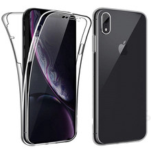 360 Full Soft Case For iPhone XS Max XR X 6 6s 7 8 Plus Transparent Cover Silicone TPU Phone Casing For iPhone 4 4s 5 5s se Etui(China)