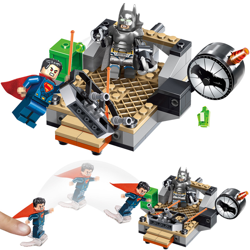 LELE Technic Assemble Toys Model Building Blocks Compatible LegoINGlys Batman vs Superman Creator Bricks Toy for Children 104pcs lepin 663pcs ninja killow vs samurai x mech oni chopper robots 06077 building blocks assemble toys bricks compatible with 70642