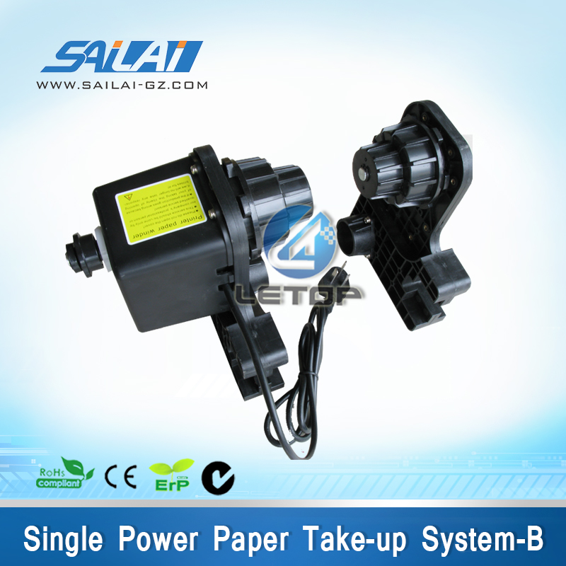 solvent printer paper feeding single system take up for roland printer mimaki printer take up reel system motor for roland mimaki mutoh printer take up reel system