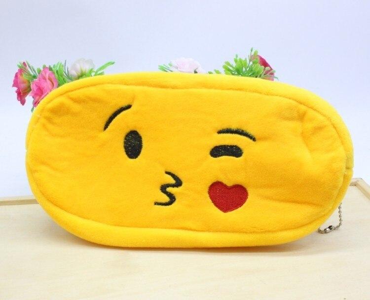 Kawaii Cartoon Pen case Totoro plush Smile Face Emoji Cute Pencil case School Minecraft etui trousse scolaire stylo 04819 25