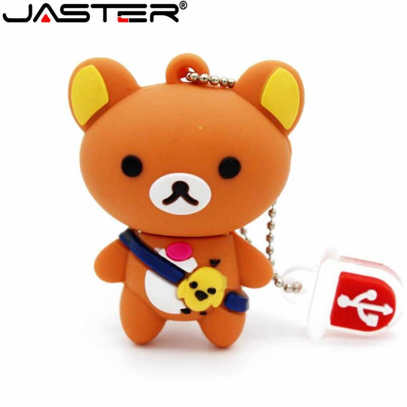 JASTER Bonito do urso do bebê olá kitty pendrive pen drive chaveiro 4 gb 8 gb gb gb 64 32 16 gb usb flash drive vara mini presente bonito