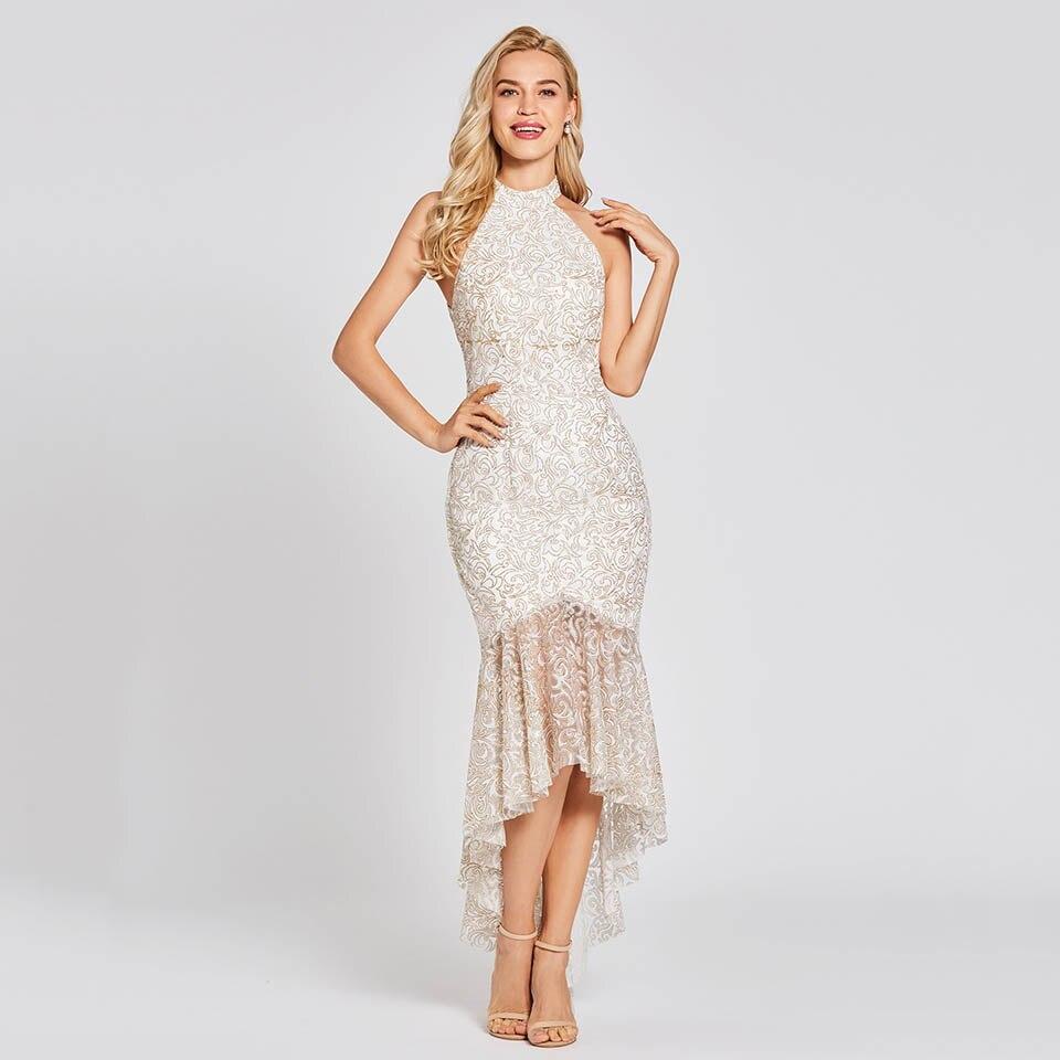Dressv Black Long Evening Dress Zipper Up Cheap Halter Neck Sleeveless Wedding Party Formal Dress Mermaid Evening Dresses