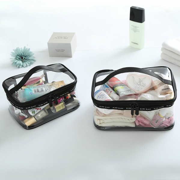 Transparent PVC bag waterproof Cosmetics storage bag makeup bag good quality clean bag three sizes