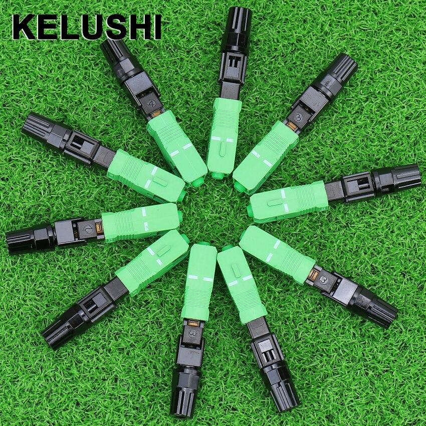 KELUSHI 100 個 SC P C 高速コネクタ/光ファイバの高速コネクタ/使用繊維ケーブルクイックコネクタ  グループ上の 携帯電話 & 電気通信 からの 光ファイバ機器 の中 1