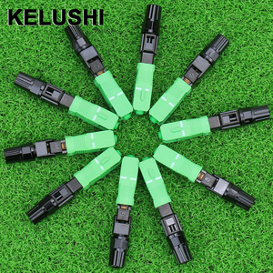 Image 1 - KELUSHI 100pcs SC APC fast connector / fiber optic fast connector / fiber cable quick connector Tools