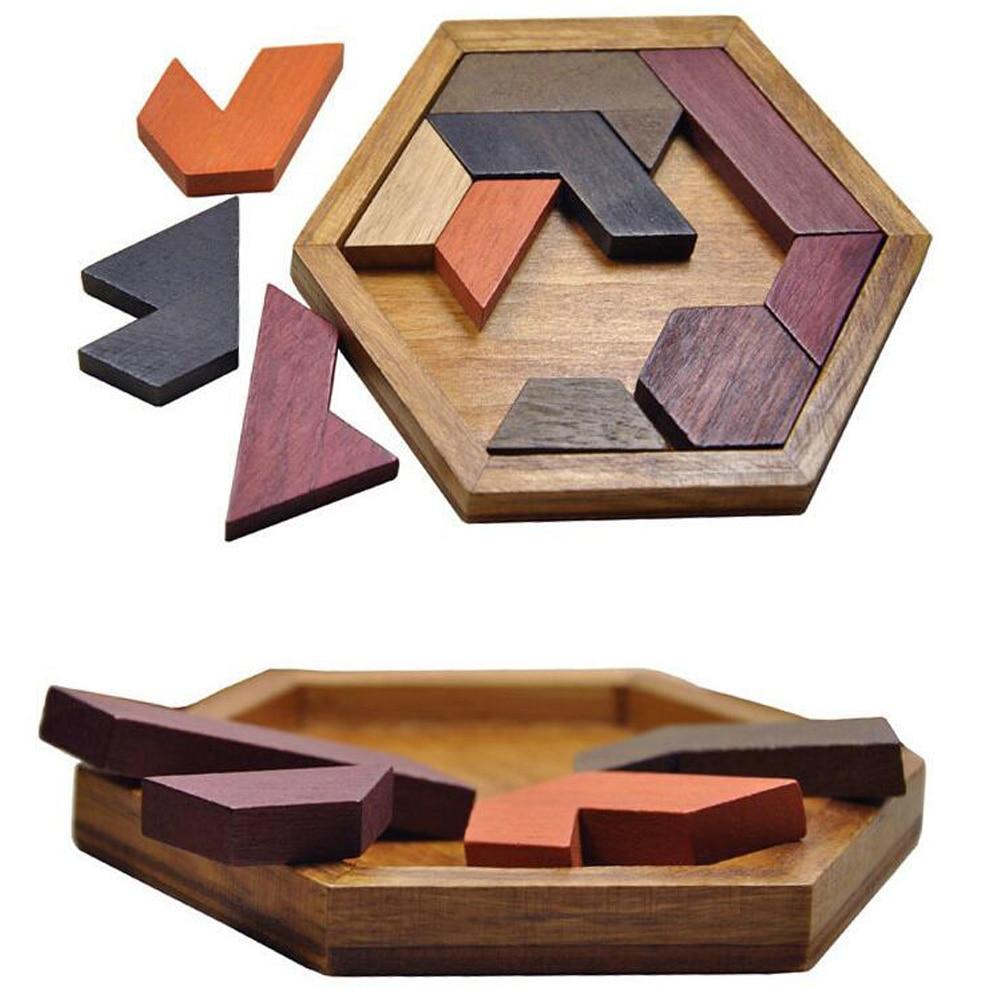 Puzzle-uri amuzante Lemn Geometric Abnormity Shape Puzzle Jucarii din - Jocuri și puzzle-uri