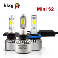 HLXG Mini S2 70W 8000LM H4 Led Auto Lamps 6500K H7 LED Car Headlight Independent Drive