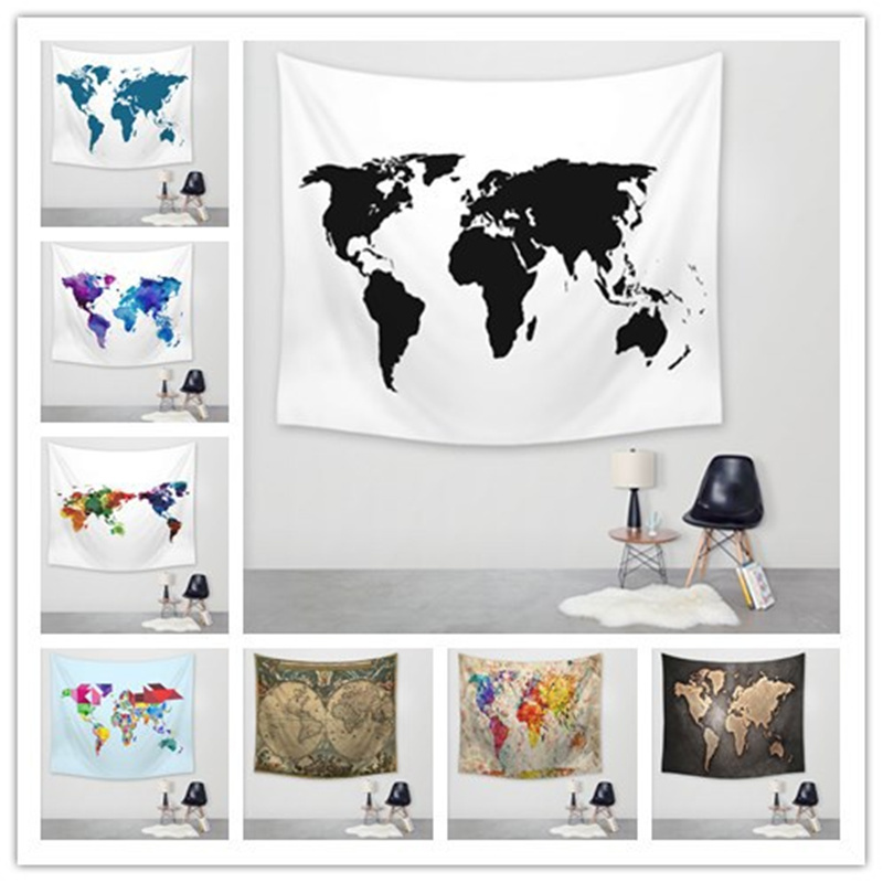 Animals Wallpaper Polyester Yoga Mat Hanging Tapestry Wall Sticker Home Decor