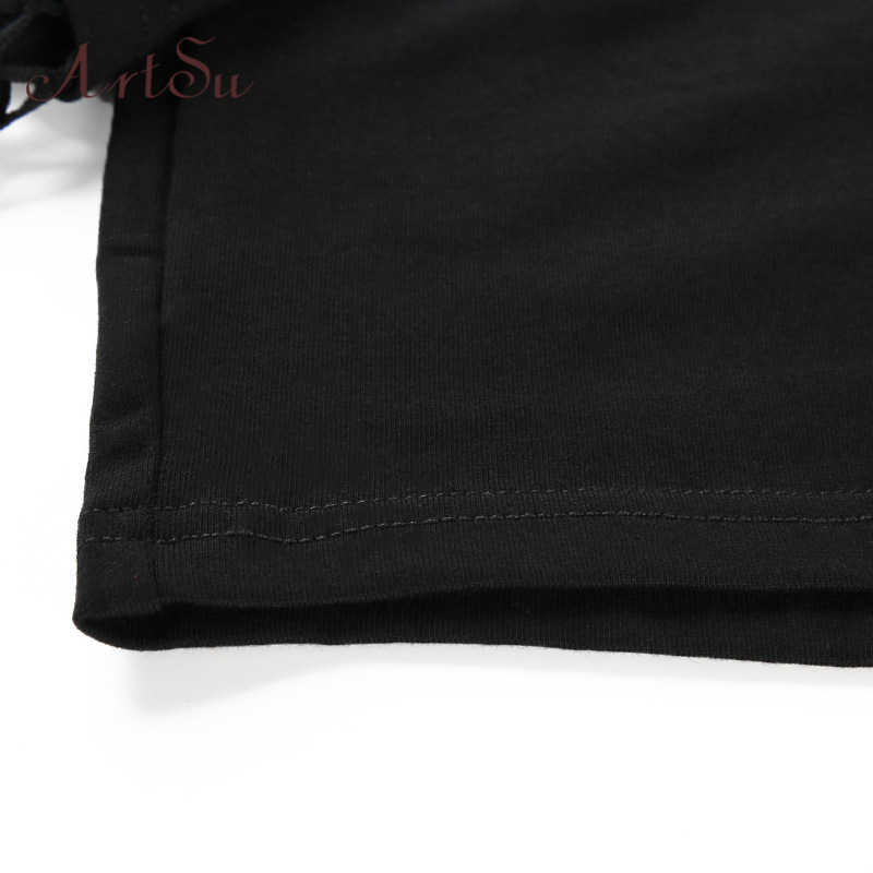 Арцу 2019 черный укороченный кофта-топ с длинным рукавом Для женщин с капюшоном уличная Harajuku с капюшоном Kpop Толстовка ASHO20240