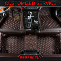 AutoDecorun Custom Fit Car Floor Mats For Fiat 500 Bravo Freemont Car Carpet Mat Set 3D Styling PVC Leather Interior Accessories