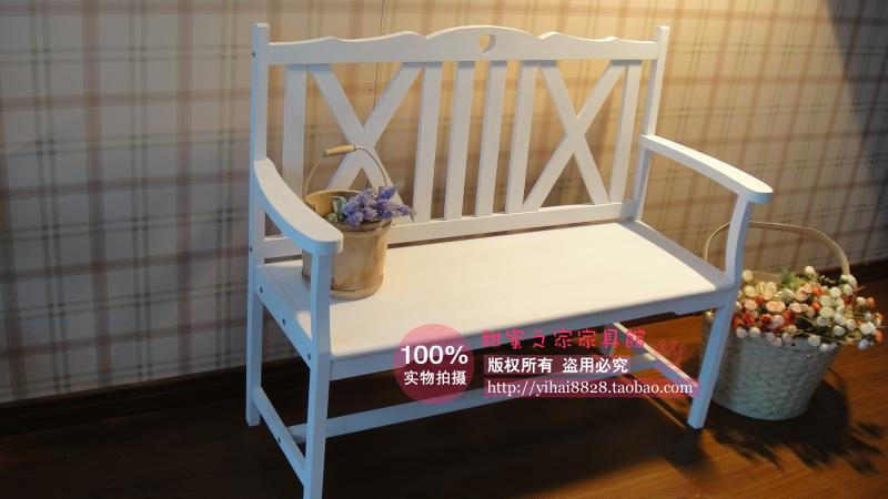 European white garden Double bench casual clothing Princess Benches wood chair Armchairs