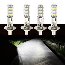 4pcs H1 25 SMD Pure White Fog Beam Signal Driving 25 LED Car Light Bulb Lamp Parking Car Light Source parking цена