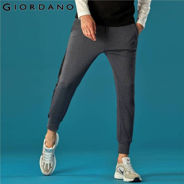 Giordano Men Pants Zip Pocket Terry Joggers For Men Knitted Jogger Pants Male Moletom Masculino Pantalones Hombre Casual 48