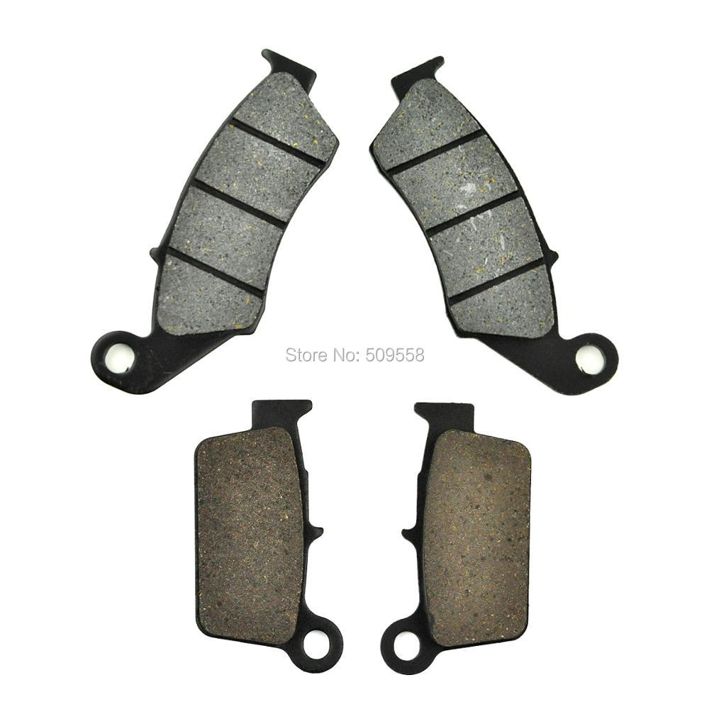 Complete Set of Motorcycle Brake Disc Pads for Yamaha WR250F 01-02 YZ250F 01-02 YZ400F 1999 WR426F 01-02 steel motorcycle brake pads for yamaha jym90 2 pcs