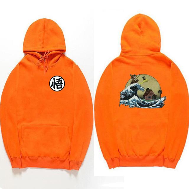 Goku Japanese Art Hoodie- Long Sleeve