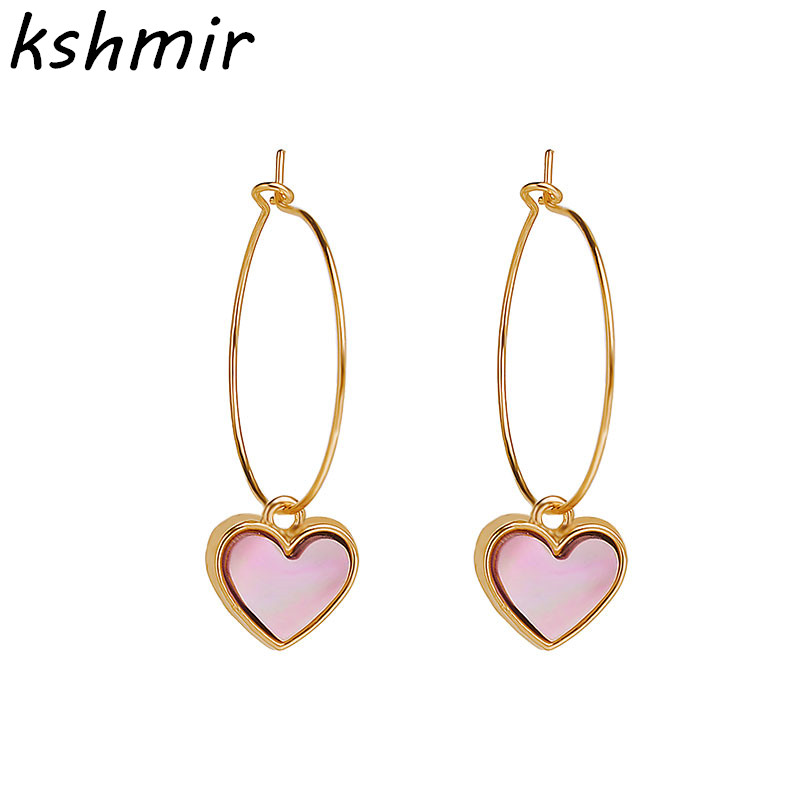 Han edition fashion contracted yakeli small earrings exquisite fashion ear love peach heart-shaped pendant gift ...