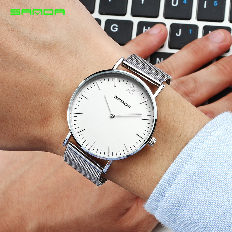 Business King Queen Watches Timeless Onyx Couple Watch 2019 Luxury Stainless Steel Belt Lovers Watch Classic Gift Man Pair Watch in Lover 39 s Watches from Watches