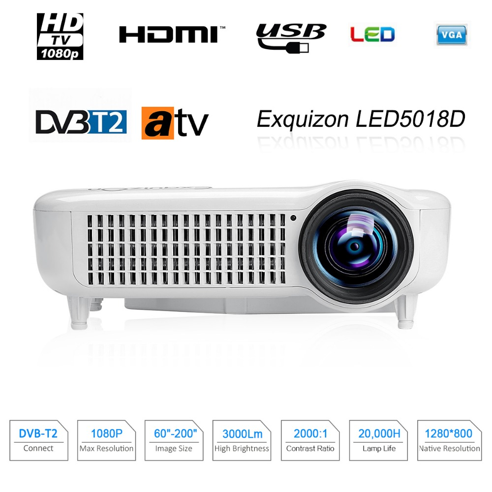 Caiwei Home Use Dvb T2 Projector Led Lcd Digital Tv: Aliexpress.com : Buy Exquizon 5018D Home LED Projector