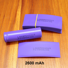 100pcs/lot Lithium Battery Pvc Plastic Shrink Sleeve 18650 Special Heat Shrinkable Insulation Casing Film 2600mah