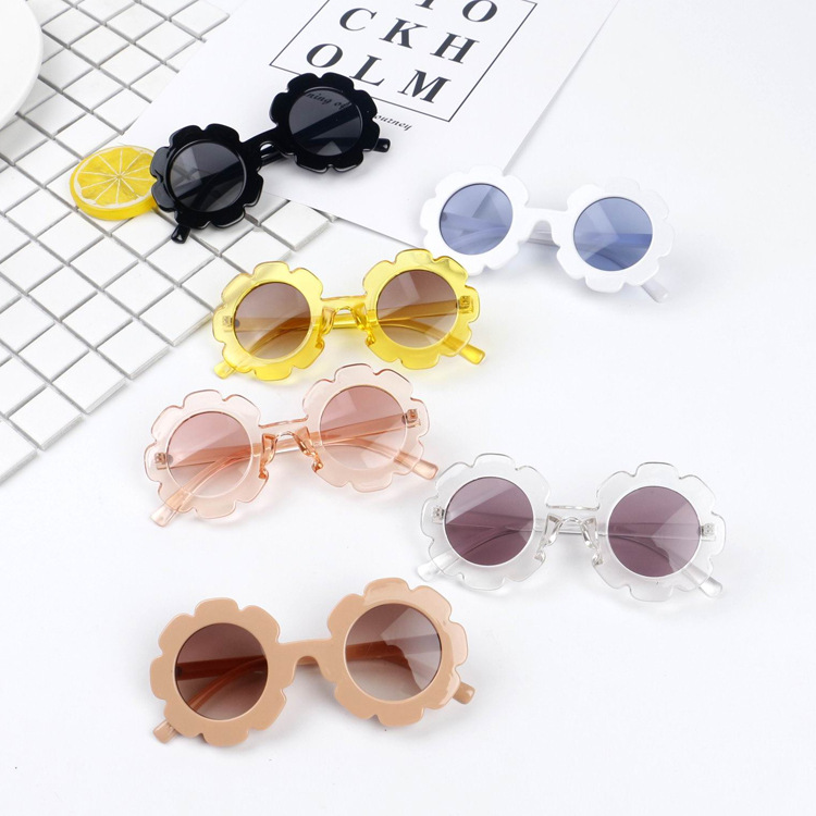 Hot!!!! Toddler Infant Plastic UV400 Sunglasses Cute Baby Boy Girl Flower Shape Goggles Princess Sunglasses 6 Colors