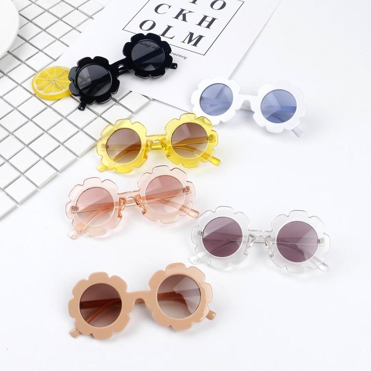 Hot!!!! Toddler Infant Plastic UV400 Sunglasses Cute Baby Boy Girl Flower Shape Goggles Princess Sunglasses 6 Colors