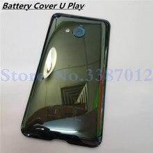 غطاء البطارية الخلفي الزجاجي 5.2 بوصة لهاتف HTC U Play غطاء البطارية الخلفي مع أجزاء استبدال عدسة الكاميرا