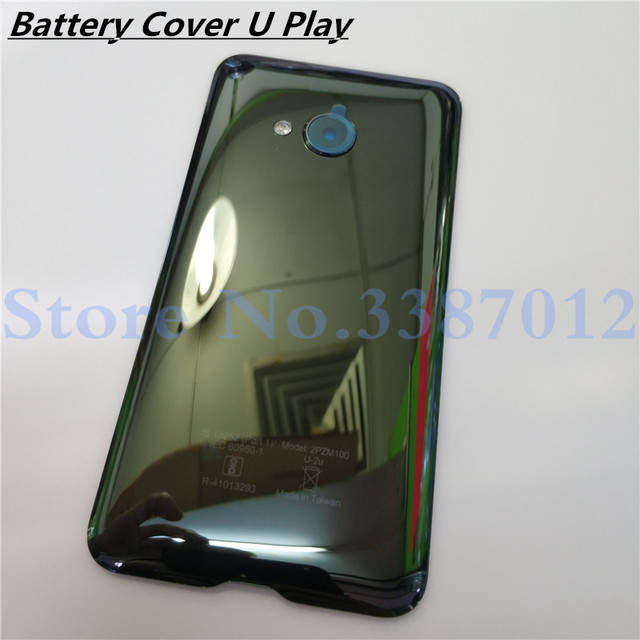 Glass Back Rear Housing Door 5.2 inch For HTC U Play Back Battery Cover Case With Camera Lens Replacement Parts