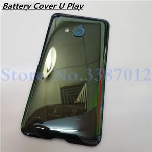 Image 1 - Kính cường lực Lưng Phía Sau Nhà Ở Cửa 5.2 inch Cho HTC U Play Lưng Pin Ốp Lưng Với Ống Kính Máy Ảnh Thay Thế Linh Kiện