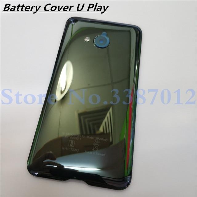 Kính cường lực Lưng Phía Sau Nhà Ở Cửa 5.2 inch Cho HTC U Play Lưng Pin Ốp Lưng Với Ống Kính Máy Ảnh Thay Thế Linh Kiện