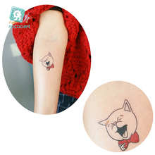 Rocooart Flower Snake Fake Tattoo Cute Rabbit Tatuajes Tatuagem Dancing King Taty Body Art Waterproof Temporary Tattoo Stickers