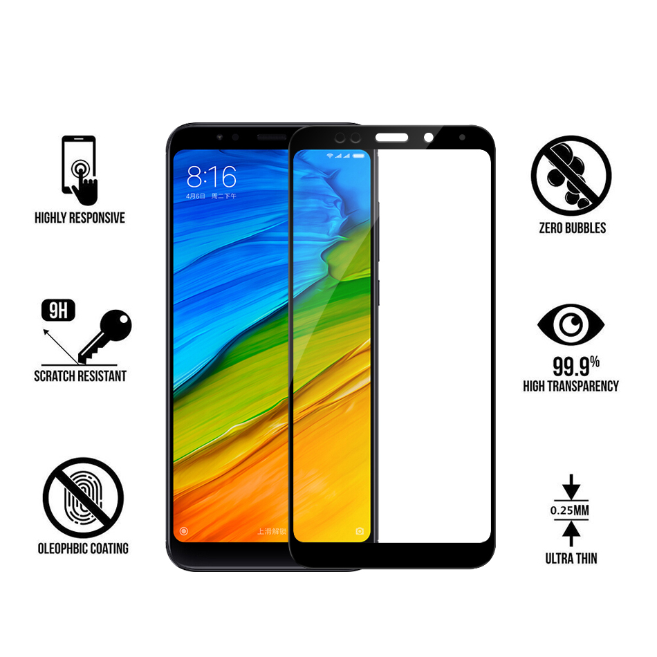 Image 5 - For Xiaomi Redmi 5 Plus Glass HD Clear Full Cover Screen Protector For Xiao mi Redmi Note 5 Pro Tempered Glass Protective Film-in Phone Screen Protectors from Cellphones & Telecommunications
