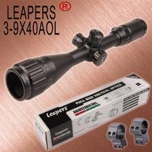 LEAPERS 3-9X40 охотничьи винтовки прицелы снайперская область тактическая оптика прицелы R/G/B с подсветкой для охотничьей винтовки пневматические пистолеты