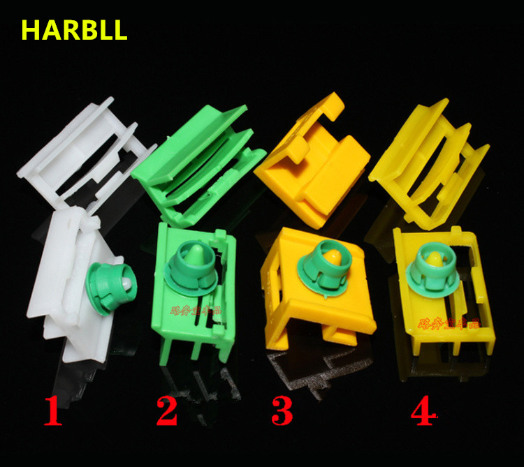 HARBLL 8PCS For BMW E46 / 3 system 318i 320 E90 E60 bottom side skirts surrounded by large suite clamp fasteners