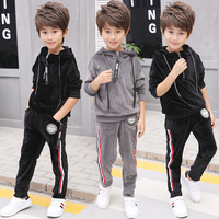 2017 New Spring Autumn Girls Kids Boys Jacket Trousers Camouflage Sets Cotton Baby Clothes Children Clothing