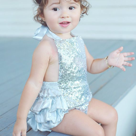 92d59241d Gold sequins ruffle bubble romper for baby girls fashion newborn ...