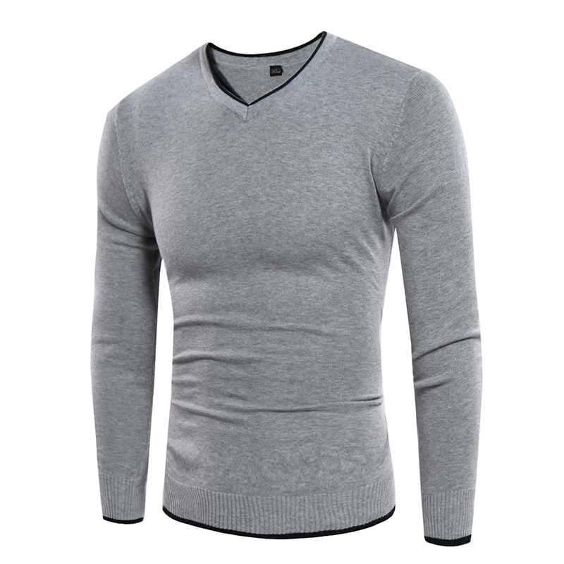 2017 Mens Sweater Male V-neck Sweaters Mens Slim Sweaters Casual Knitted Pullovers Men Pullover Sweater