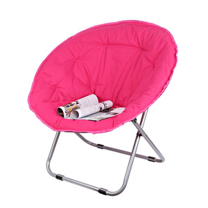Image 3 - Large Size Moon Folding Chair Portable Couch Lazy Chair for Adult Soft Oxford Cloth Cushion Seat Office Chair Strong Bearing