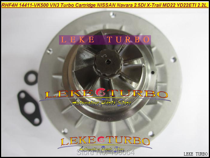 Turbo Cartridge Chra Core RHF4H 14411-VK500 14411-VK50B VN3 14411 VK500 For Nissan Navara MD22 2.5L 02- X-Trail 01- YD22ETI 2.2L turbo repair kit rebuild oil rhf4h vn3 14411 vk500 14411vk500 vb420058 for nissan navara frontier md22 2 5l x trail yd22eti 2 2l