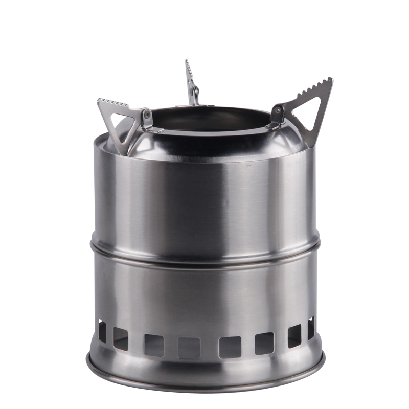 Portable Wood Camp Stove Opvouwbare Stevige Alcohol Branders Backpacken Survival Hout Brandende Brandhoutoven