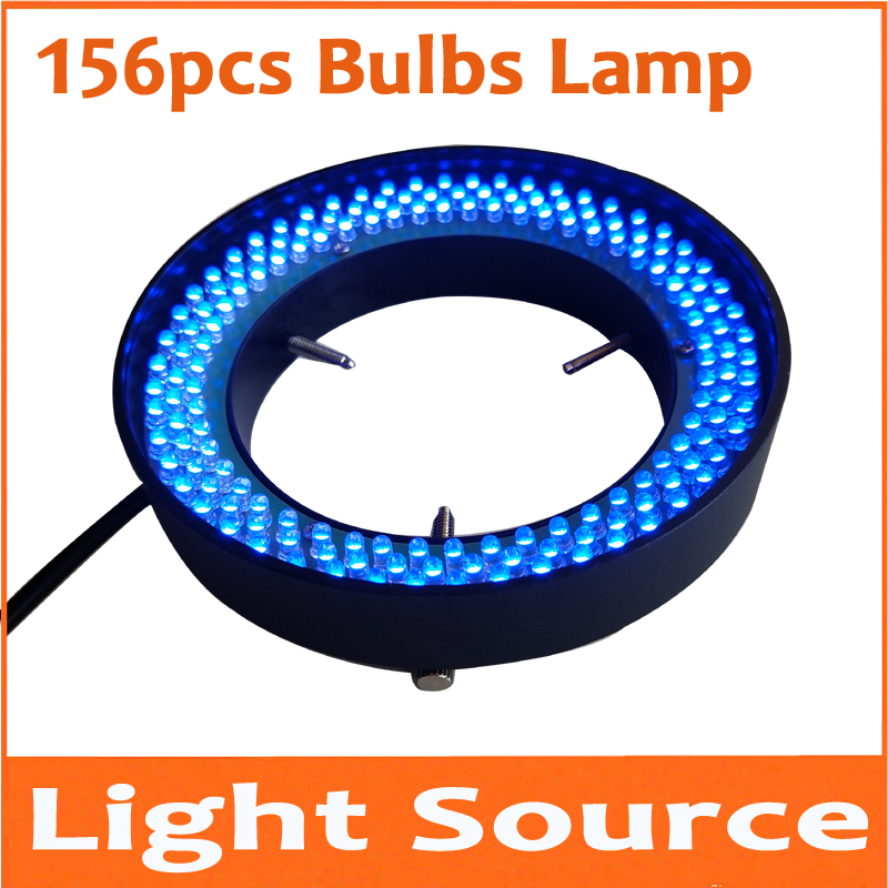 Blue Light 156pcs 8W Lab LED Adjustable Zoom Stereo Biological Microscope Light Source Ring Lamp 90V-264V 81mm Inner Diameter цена
