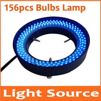 Blue Light 156pcs 8W Lab LED Adjustable Zoom Stereo Biological Microscope Light Source Ring Lamp 90V-264V 81mm Inner Diameter