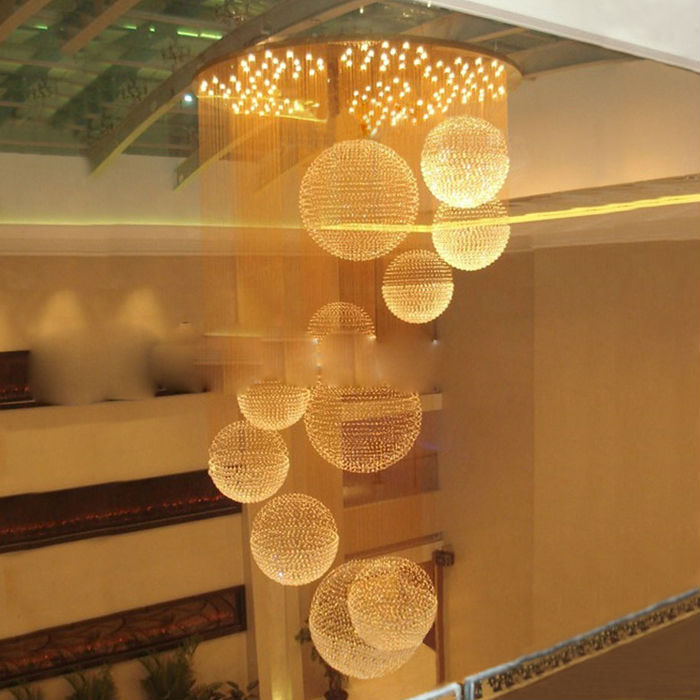 Modern Crystal Restaurant Chandelier Living Room Curtain Lights Hotel Hall Parlor Indoor Lighting Luxury Lamps In Chandeliers From