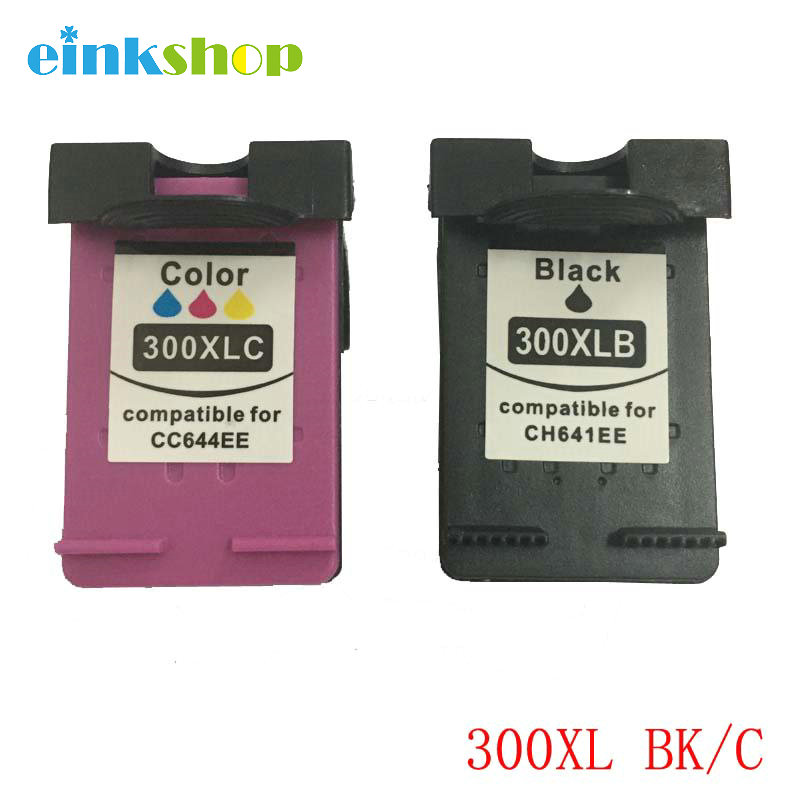 einshop Үйлесімді hp 300 300XL сия картриджы үшін HP Deskjet F4500 F4580 F4583 F2420 F2480 F4210 F4272 F2483Fhotosmart C4683