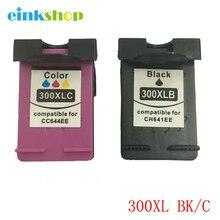 For HP 300XL 300 Ink Cartridge For HP Deskjet D1660 D2560 D2660 D5560 F2420 F2480 F2492 F4210 F4224 F4272 F2423 F2483 F2493 high ink volume re manufactured ink cartridge for hp 300xl 15 17ml cc644ee 300xl tri colour inkjet cartridge for deskjet d2660