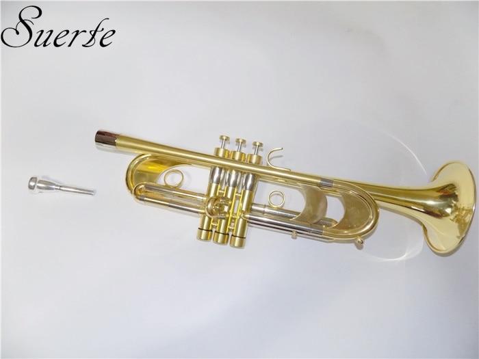 Profesional Heavy Trumpet Bb B Alat musik datar Passivasi - Alat-alat musik - Foto 2