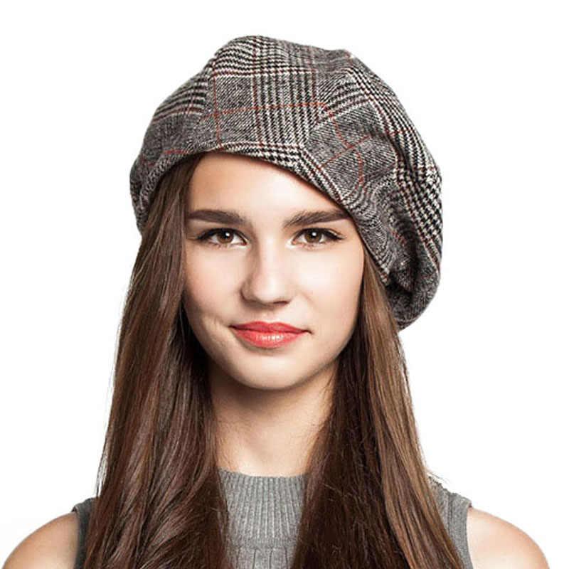 ... FS artista francés boina sombrero para las mujeres de mujer de invierno  de moda negro azul ... cf293503eba