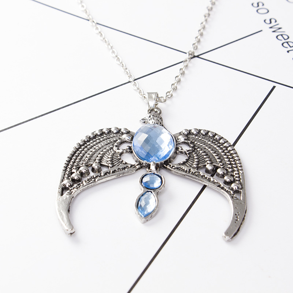 Harri Potter Deathly Hallows Ravenclaw Lost Diadem Tiara Crown necklace Horcrux
