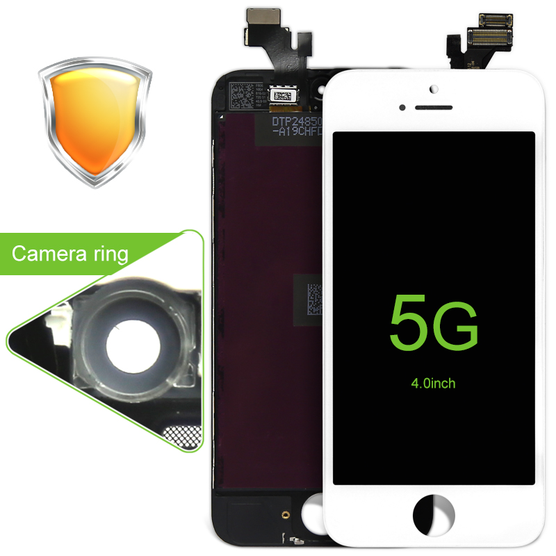 10PCS LOT AAA Quality LCD Screen Display Digitizer Assembly For iPhone 5 Pantalla with cold press