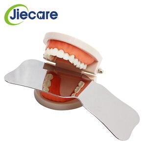 Image 5 - Espejos de fotografía de acero inoxidable para dentistas, Reflector de ortodoncia Intra Oral de doble cara, lavable con autoclave, 1 unidad